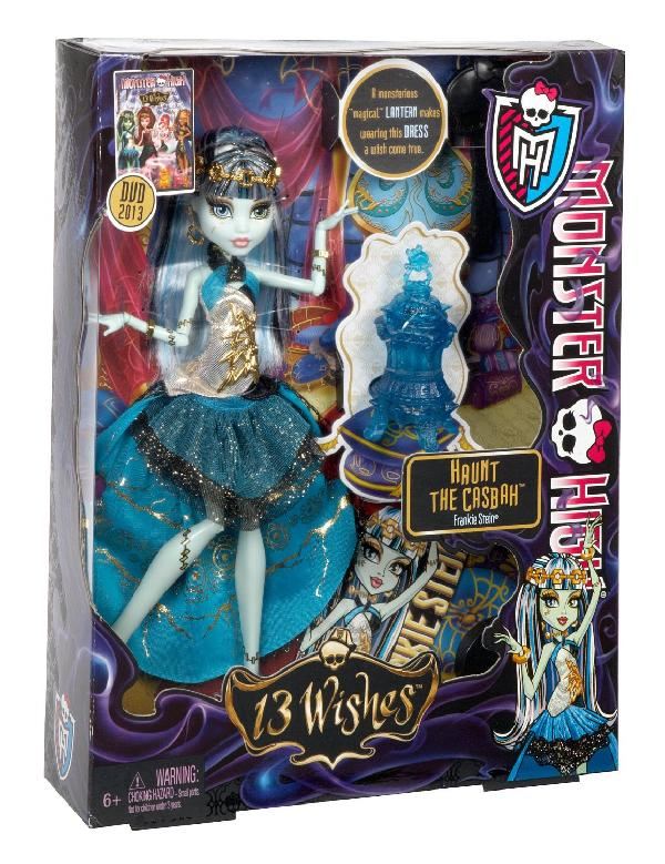 Mattel/Tactic/Hasbro () Exclusive 2013 ! Y7702 / Y7704 Monster High 13 Wishes Lelle Frankie Stein Jaunums 201  20.95