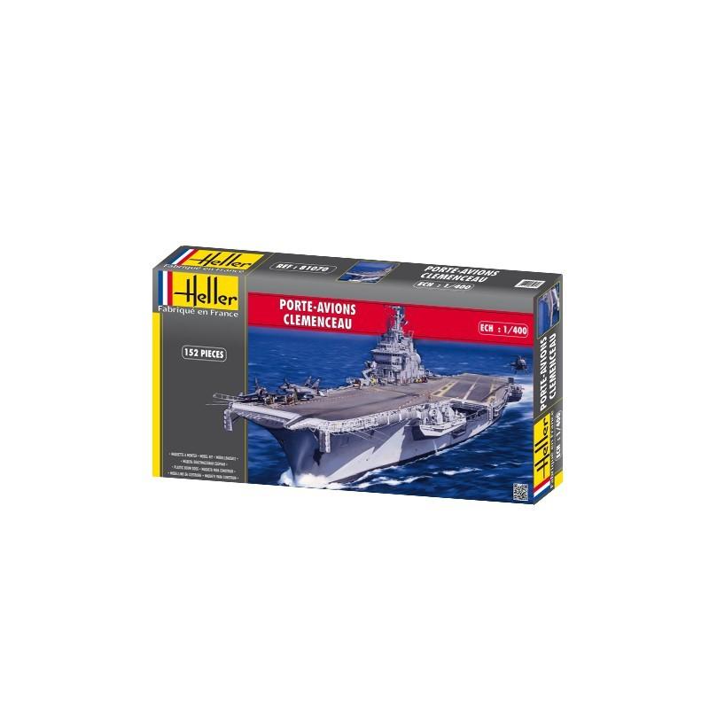 Heller Līmējamais modelis Kuģis 81070 1/400 - PORTE-AVIONS CLEMENCEAU