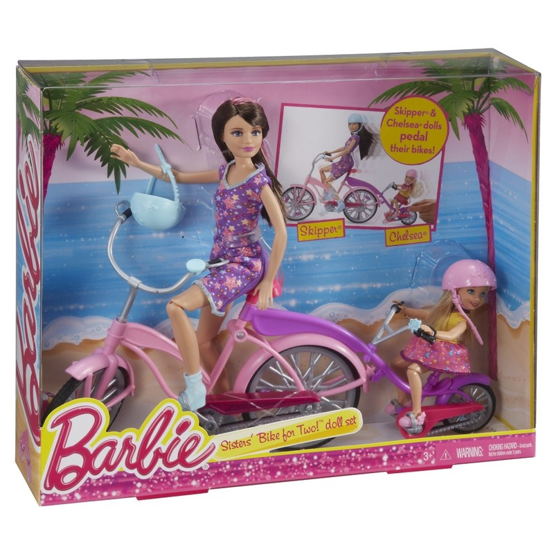 BLT06 BARBIE Barbija un masa ar riteni Mattel BARBIE Tandem Bicycle Sisters Bike