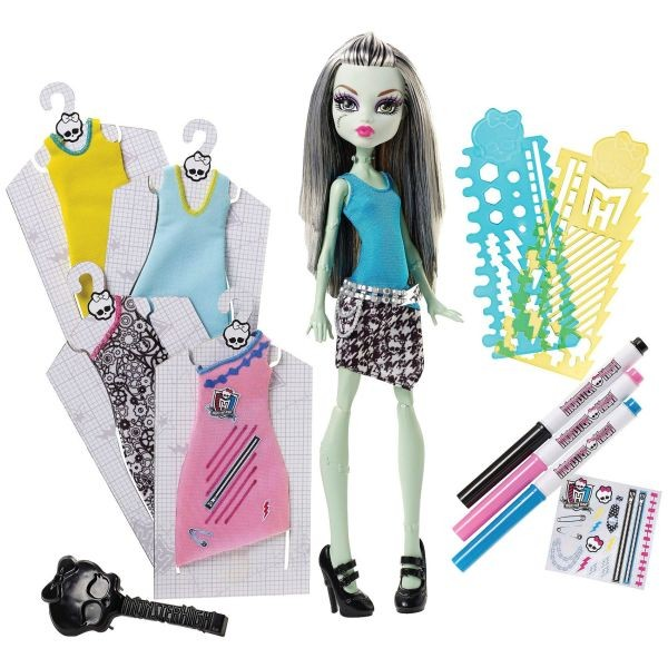 DNM27 Lelle Monster High Designer Booo-tique Frankie Stein Doll & Fashions