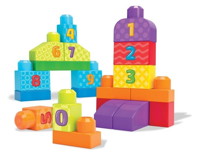DLH85 Mega Bloks First Builders 1-2-3 Count! Bag FISHER PRICE  MATTEL konstruktors bērniem
