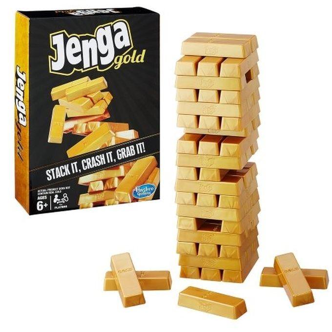 B7430 Jenga Gold Game Spēle Jenga Gold, zelta izlaidums HASBRO