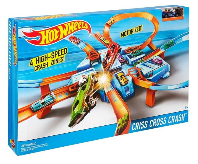 DWW96 Hot Wheels Track Builder Construction Crash Kit MATTEL