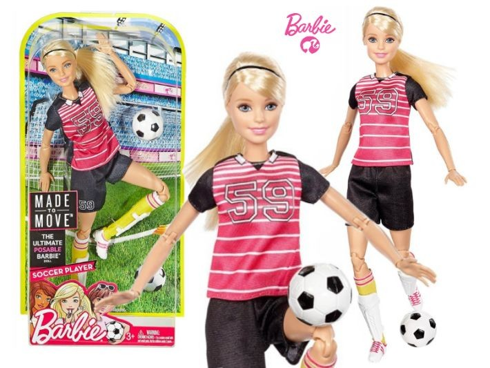 DHL82 / DHL81 Mattel Barbie Sporta lelle Kusties kā es Pin Barbie Endless Moves Doll with Pink Top