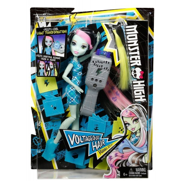 DVH72 Monster High Electrified Voltage Frankie Stein Doll MATTEL