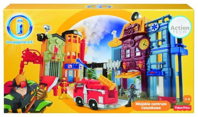 (Ir Uz Vietas) BDY60 Fisher Price Imaginext ugunsdzēsēju stacija