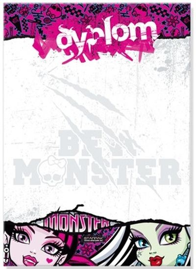 Mattel/Tactic/Hasbro Monster High 7777 Diploms A4 (Ir Uz Vietas)  1.50