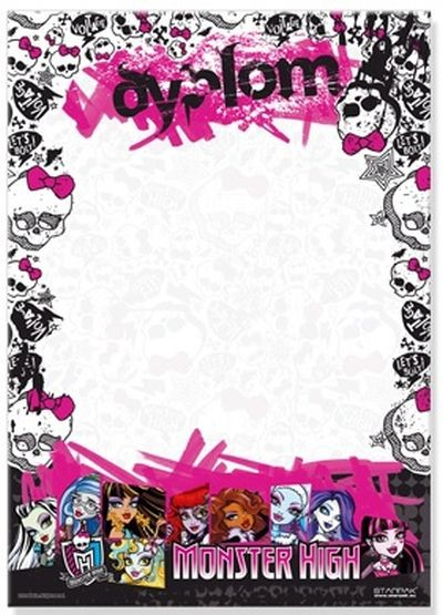 Mattel/Tactic/Hasbro Monster High 6666 Diploms A4 (Ir Uz Vietas)  1.50