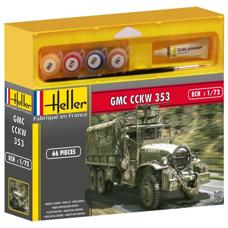 Heller Līmējamais modelis 49996 GMC CCKW 353 1/72