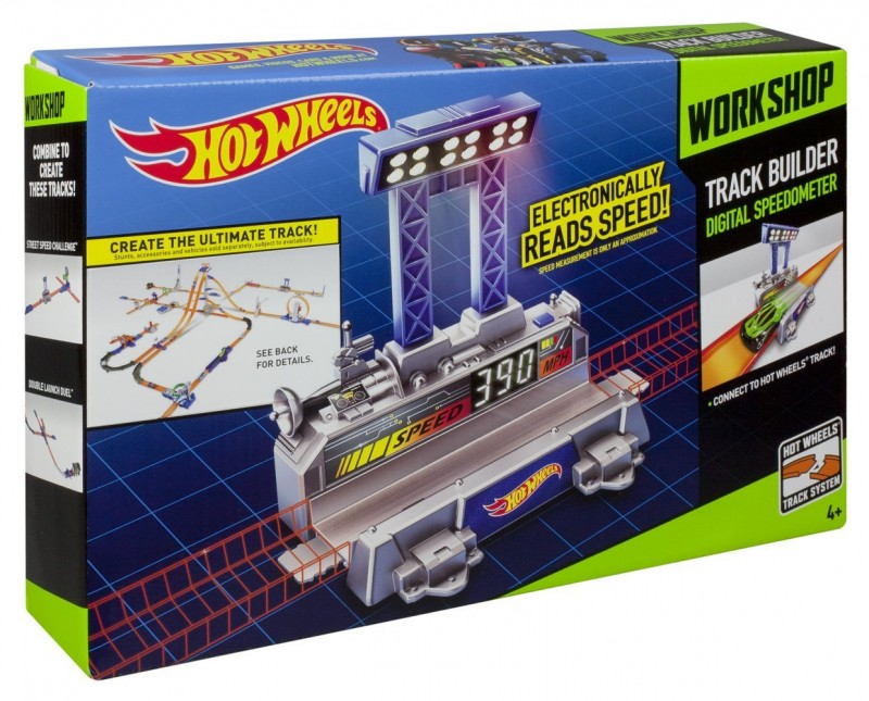BGX83 / BGX82 Hot Wheels Track Builder Digital Spidometr MATTEL