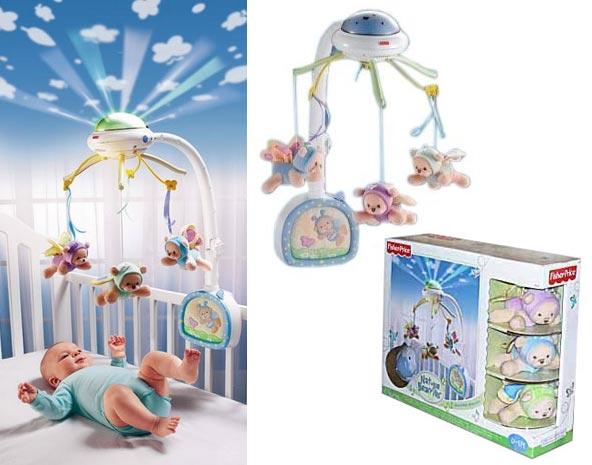 (Ir Uz Vietas) Fisher Price C0108 Butterfly Dream Mobile Karuselis gultiņai