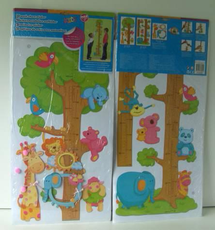 Bērnu auguma mērītājs 05 Zoodārzā 20 - 170cm istabas dekors (Ir Uz Vietas)