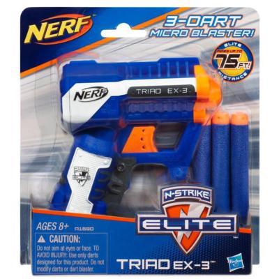 (Ir Uz Vietas) A1690 Nerf Spēļu ierocis TRIAD EX-3 ELITE