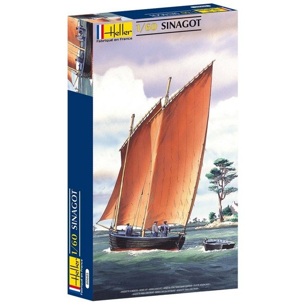 (Есть в наличии) Heller пластмассовая сборная модель 80605 Корабль Sinagot 1:60