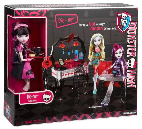 (Ir Uz Vietas) Monster High lelle Draculaura kafejnīcā Y7719 ( komplektā ir iekļauta lelle un mēbele