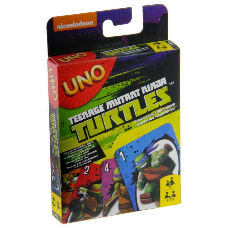 Galda spēle UNO CJM71 Mattel kāršu spēle UNO TEENAGE MUTANT NINJA TURTLES