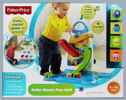 Bfh57 Fisher Price Roller Blocks Play Wall Nopirkt