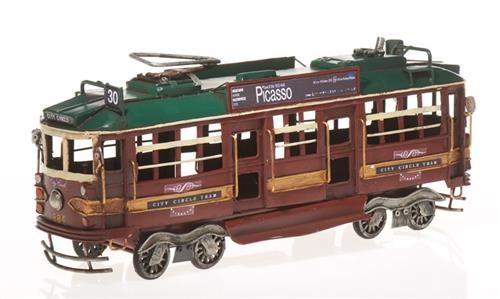 """Ekskluzīvs tramvaja modelis (Metāls) """"Tram"""" Rf-Collection 904871 (34x9x13cm)"""