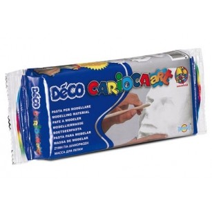 Масса для лепки 500г белая Deco Carioca 30996  white