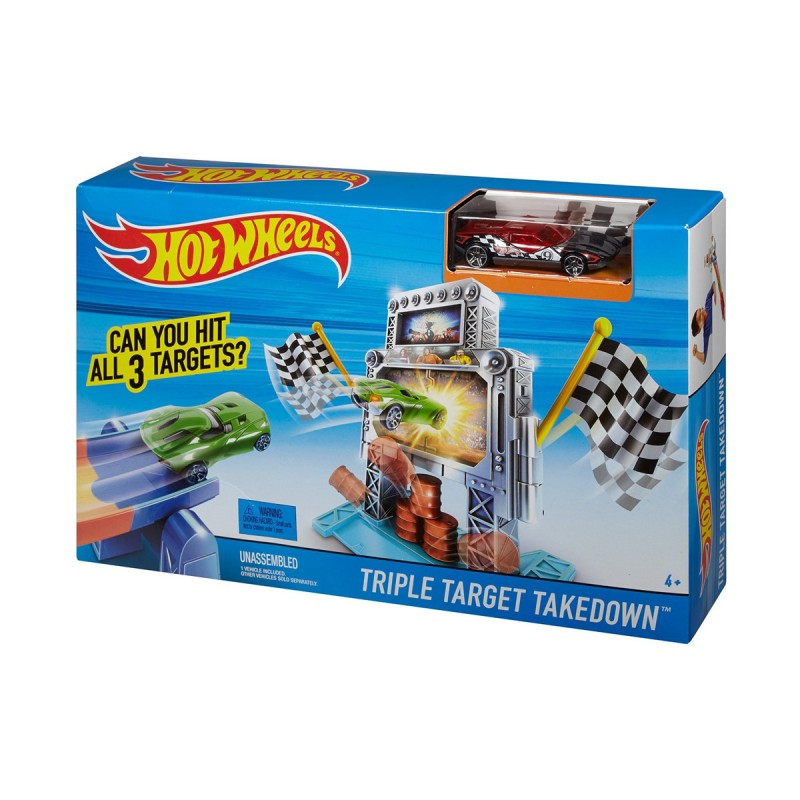 DWW97 Mattel Hot Wheels Track Builder Stunt Bridge Kit trase