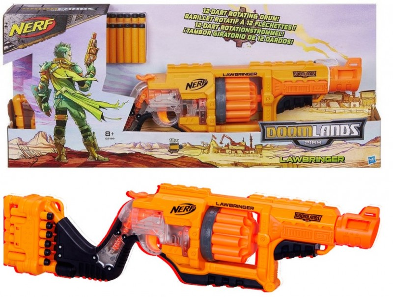 B3189 Nerf Doomlands Lawbringer Ierocis HASBRO NERF Doomlands 2169 Lawbringer Blaster
