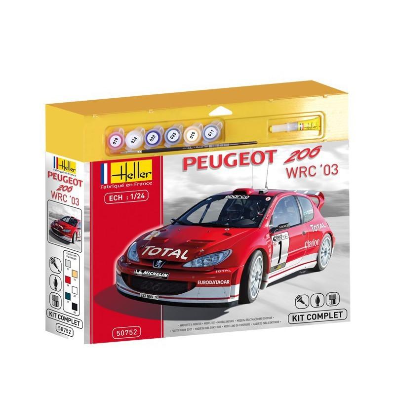Heller Līmējamais modelis Automašīna 50752 PEUGEOT 206 WRC 03 1/24