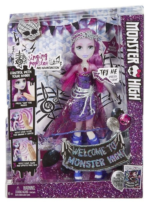 DYP04 Monster High Dance the Fright Away Singing Popstar Ari Hauntington Doll MATTEL