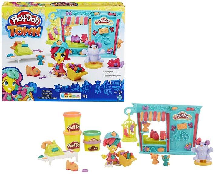 B3418 Hasbro Play-Doh TOWN Zoo veikala komplekts HASBRO