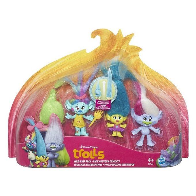 """B7364 / B6557 TROLLS Hasbro  """"Troļļi"""" Varoņu figūras Trolls DreamWorks Wild Hair Pack"""