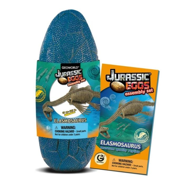 CL623K Geoworld Jurassic Eggs Elasmosaurus Assembly Set Jūras laikmeta briesmoņi
