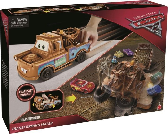 FCW00 Mattel Cars 3 Movie Jackson Storm Trailer Transforming Hauler Playset