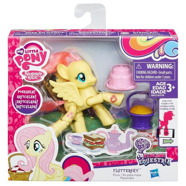 "B8023 / B3598 My Little Pony ""Explore Equestria"" - Fluttershy My Little Pony Ponijs ar kus"