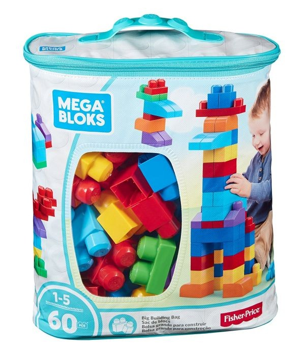 DCH55 Mega Bloks Big Building Bag, 60-Piece (Classic)