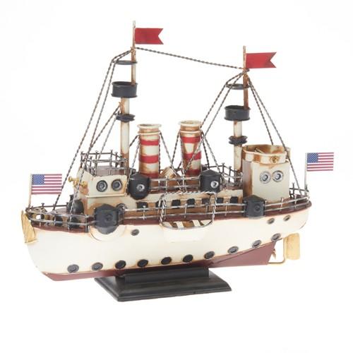 "905441 Ekskluzīvs modelis (Metāls) Kuģis Rf-Collection ""Dampfer USA"", ca. 34 x 12,5 x 28 c"