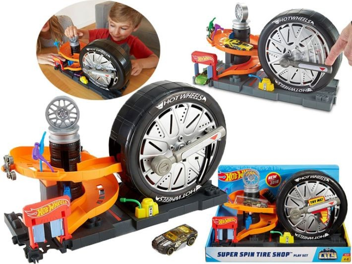 FNB17 / FNB15 Hot Wheels City Super Spin Tire Shop Hot Wheels Super Spin Tire Shop Englisch Version