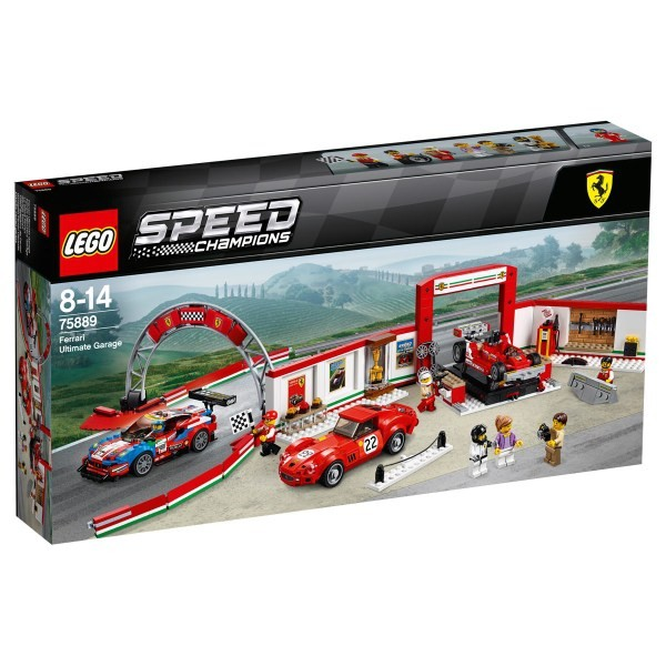 75889 LEGO® Speed Champions Ferrari Ultimate Garage, no 8 līdz 14 gadiem NEW 2018!