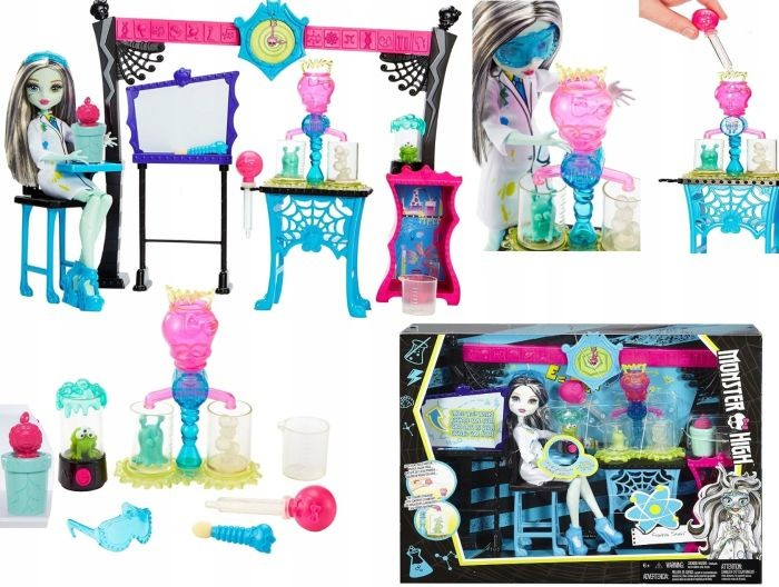 DNX37 Mattel Science Class Colour Change Playset with Frankie Stein Deluxe