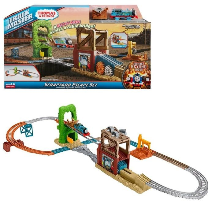 FJL44 Thomas & Friends FKL44 Trackmaster Railway Builder Bucket, Thomas the Tank Engine Toy Railway