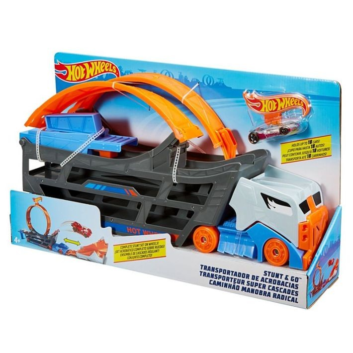 FTB68  Hot Wheels City Mega Garage Connectable Play Set with Diecast and Mini Toy Car MATTEL