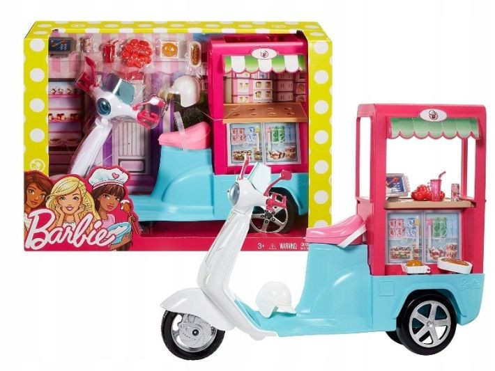 FHR08 Barbie 900 FHR08 Bistro Cart MATTEL