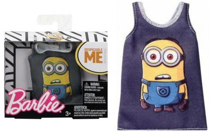 FLP48 / FLP40 Barbie  Despicable Me Fashion Top MATTEL