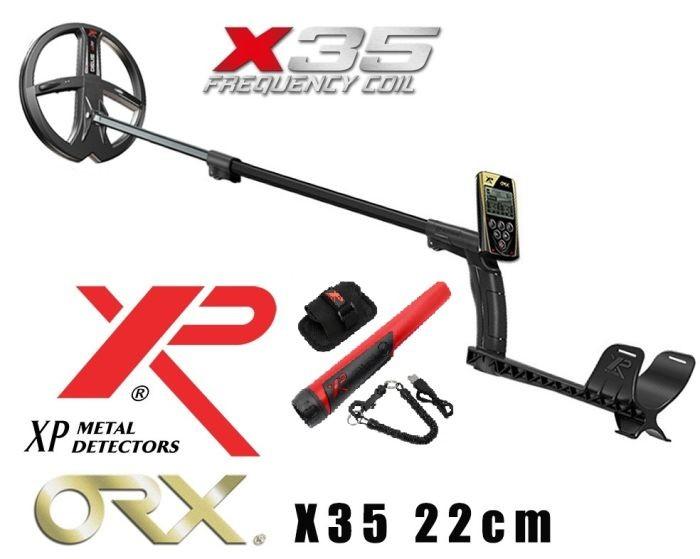 Металлоискатель ORX с HF катушкой 24*13 см и наушниками (ORXELLWS) + катушка 28CM X35 + Лопата