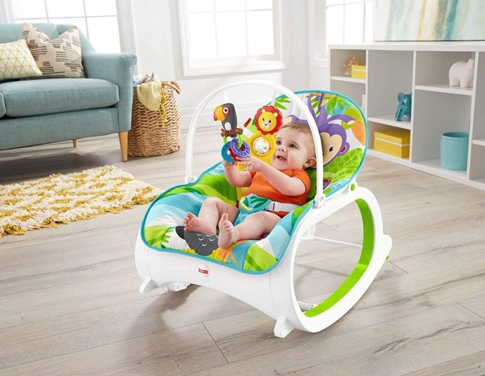 Fisher Price FML56 Mattel Safari Infant to Toddler rocker Šūpuļkrēsliņš
