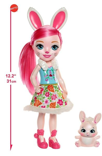 FRH53 / FRH51 Mattel Enchantimals Lielā lelle Felicity Fox & Flick 31 cm