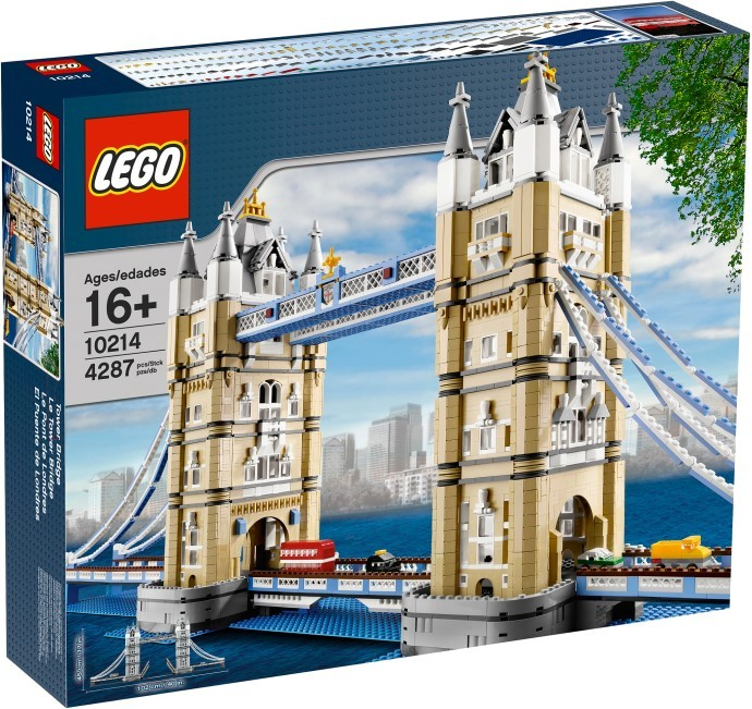 10214 LEGO Exclusive Tower Bridge Konstruktors LEGO Tilts, no 16 gadiem