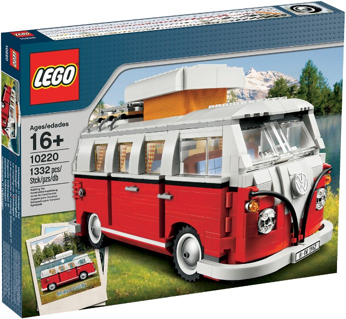10220 LEGO Exclusive Volkswagen T1 Camper Van Konstruktors, no 16 gadiem