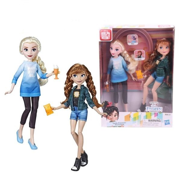 E7417 / E7357  Disney Princess Ralph Breaks The Internet Movie Dolls, Elsa & Anna Dolls with Comfy C