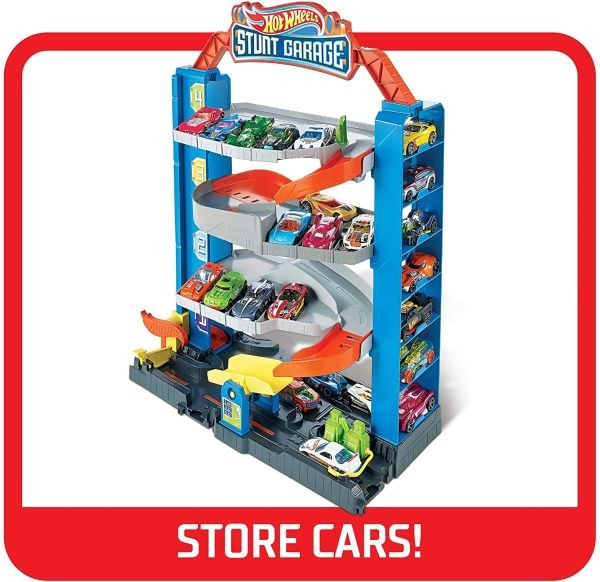 GNL70 Hot Wheels Stunt Garage + 1 auto