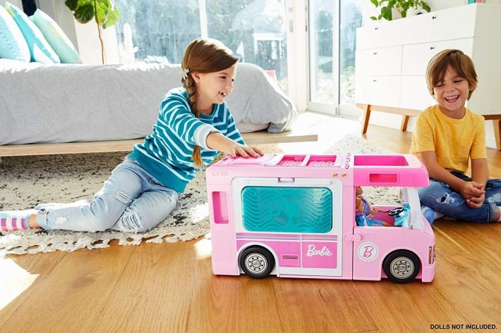 CFB65  Mattel Barbie – Carrying Case House & Doll Pārnēsājama māja + lelle