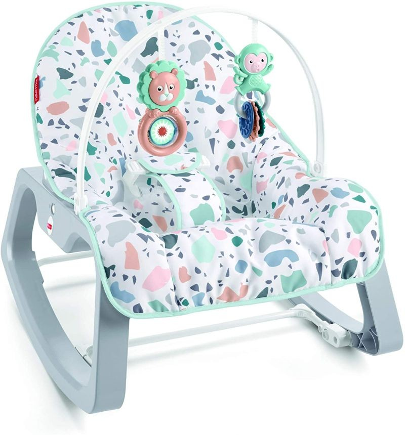 CJJ79 Fisher Price Rainforest Friends Comfort Curve Bouncer NEW
